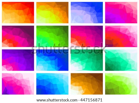 Set polygon abstract background for presentations, creativity, design brochures and websites