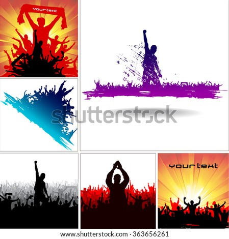 Set Posters for sporting events and concerts - stock vector