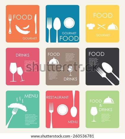Set restaurant menu design - stock vector