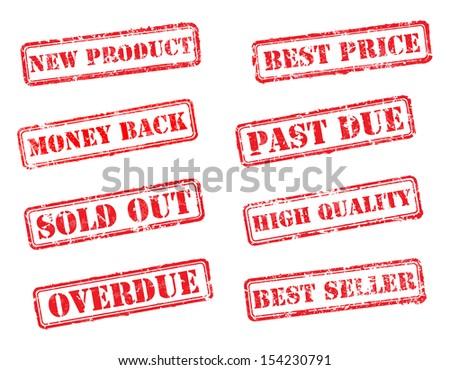 Set rubber stamps. EPS8 Vector illustration - stock vector
