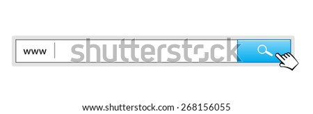 set Search bar on white background vector - stock vector