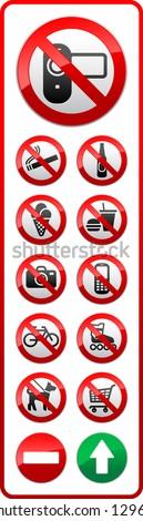 Set - shopping center symbols, vector illustration - stock vector