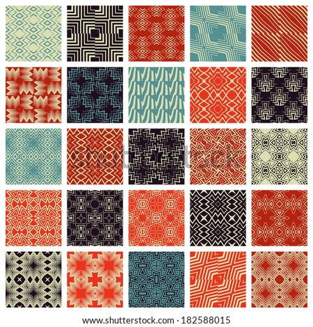 Set simple seamless patterns.Vector illustration.