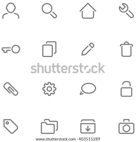 Set simple vector icons for web or app interface and etc. - stock vector