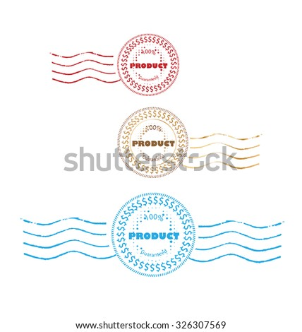 Set Stamps Product Quality Guarantee Labels retro style design  - stock vector