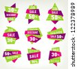 set stickers labels and banners - stock vector