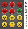 Set symbols hazard Safety sign, vector design - stock photo