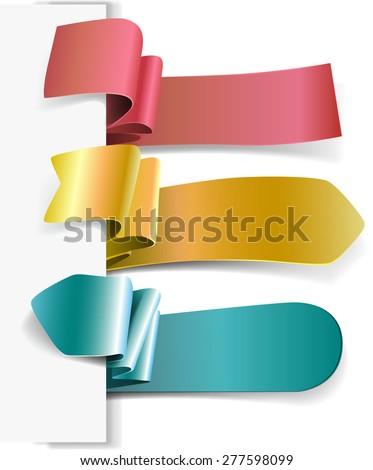 Set Tag Labels - stock vector