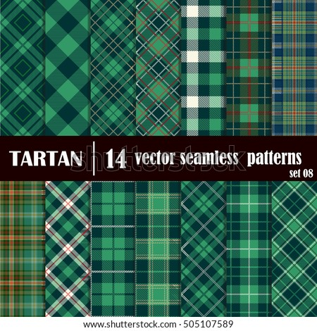 Tartan Plaid christmas tartan plaid patterns red green stock vector 323145395