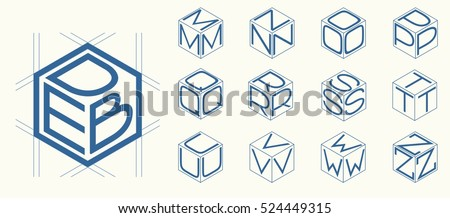 Three Letter Logo Stock Royalty Free & Vectors
