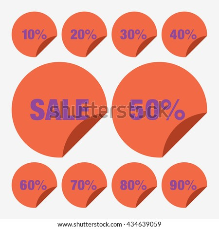 Set Template Yellow Sale Tag Vector Stock Vector 431297173