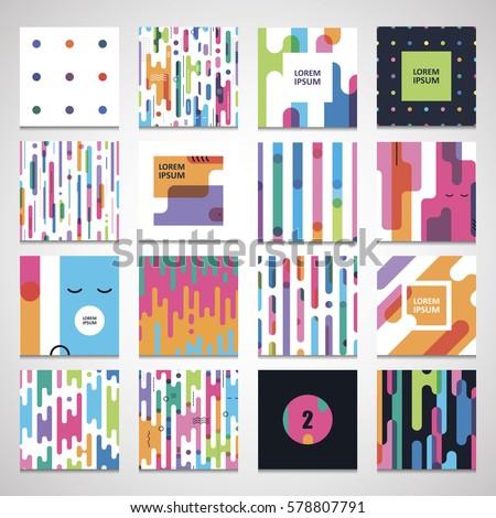 Set Twelve Seamless Pattern Te...