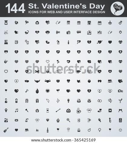 Set valentine's day icons - stock vector