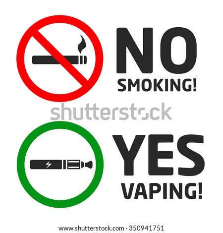 set vaping icons - stock vector