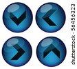 set vector arrow button - stock vector