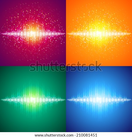 Set vector equalizer - stock vector