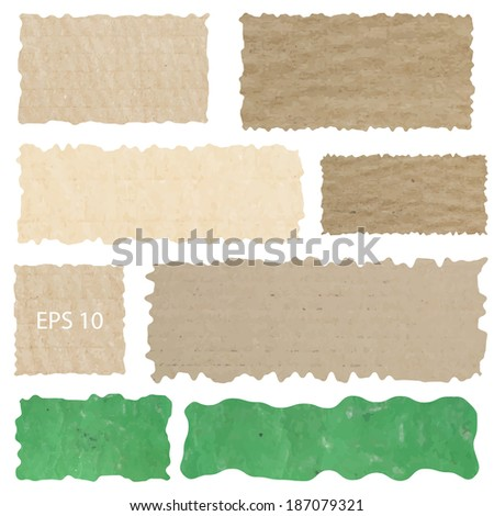 Set Vector grunge paper texture, distressed background  - stock vector