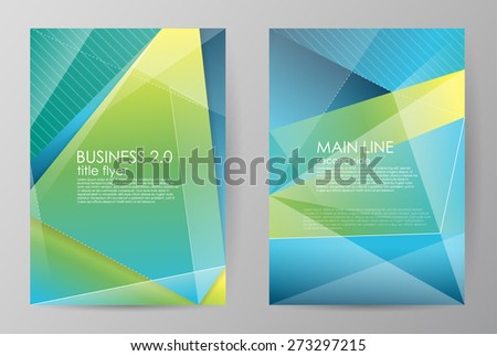 Set vertical horizontal of brochures in modern abstract style. Vector design templates. Abstract figures brochures. Business abstract background. Vector illustration. - stock vector