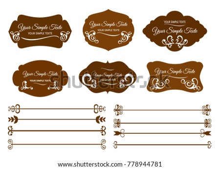 Set Vintage Frames And Decorative Borders Of Border Template Shapes Labels