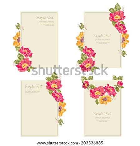 set wedding invitation cards. Wedding set vector eps10 - stock vector