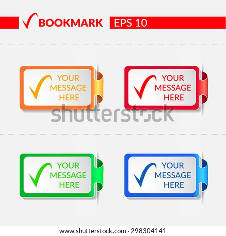 Set with bookmarks. Vector illustration -  EPS10 - stock vector