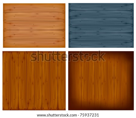 Set with wall panels.  Vector illustration - stock vector