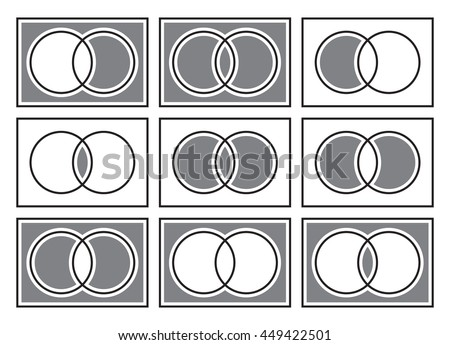 Sets Theory Basic Operations Venn Diagrams Stock Photo Photo