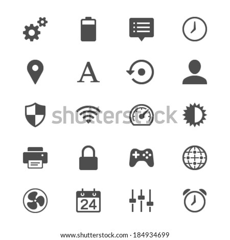 Setting flat icons - stock vector