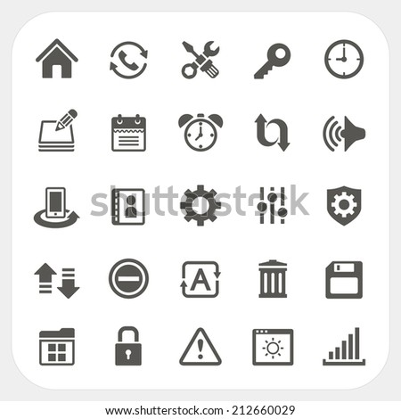 Setting icons set - stock vector
