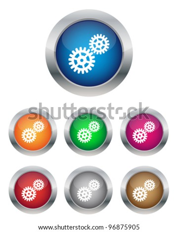 Settings buttons - stock vector