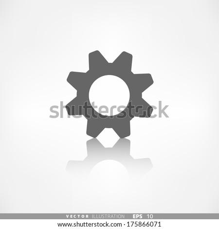 Settings icon. Gear symbol. Tools. - stock vector