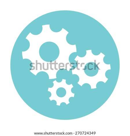 Settings icon - the gear wheels - stock vector