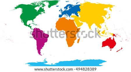 Continent Stock Images RoyaltyFree Images Vectors Shutterstock - Free continent maps