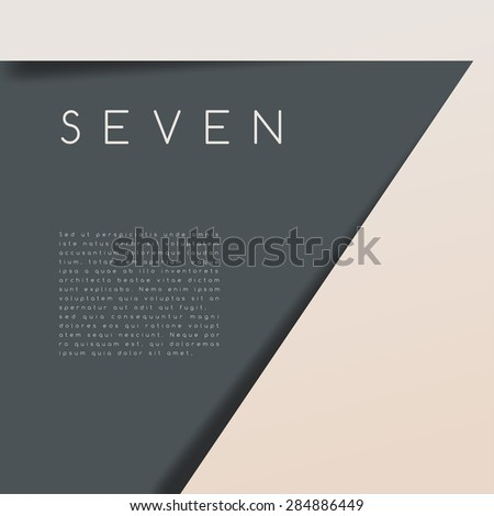 Seven : Numeral Graphic in Overlapping Element : Vector Illustration - stock vector