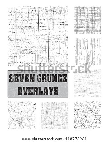 Seven vector patterns for backgrounds, fills and overlays. - stock vector