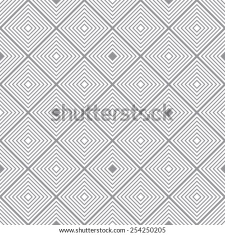 Seventies inspired retro background with seamless repeating square design - stock vector