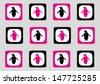 Seventies Style Penguin Wallpaper - stock vector