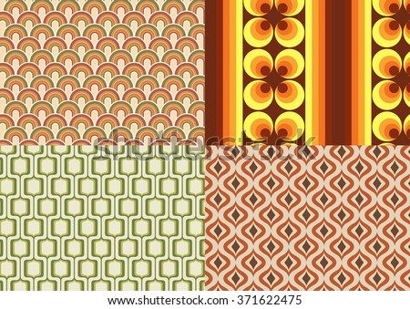 Seventies wallpapers - stock vector