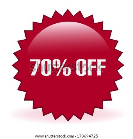 Seventy Percent Discount Sticker - stock vector