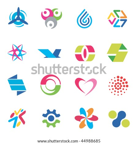 Several concepts for company names. Vector illustration. - stock vector