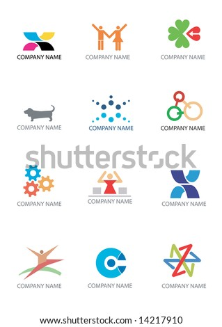 Several icons and symbols  for use. Vector illustration. - stock vector