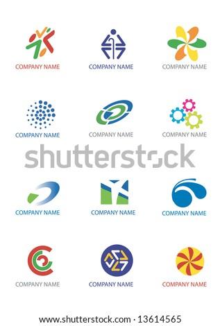 Several logos you can use as a company logo. Vector illustration. - stock vector