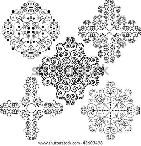 Several patterns - stock vector
