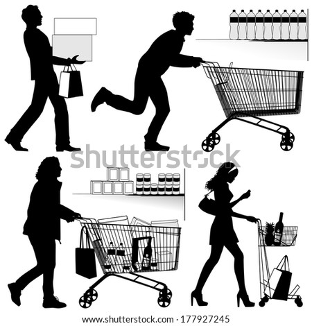 Several people. - stock vector