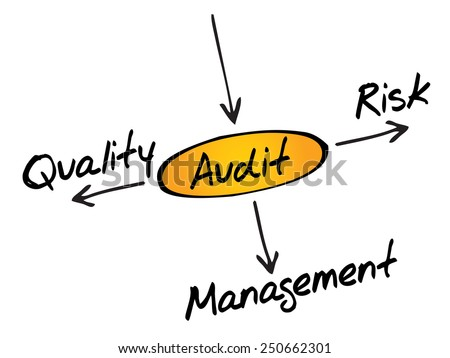 Several possible outcomes of performing an AUDIT, business concept - stock vector