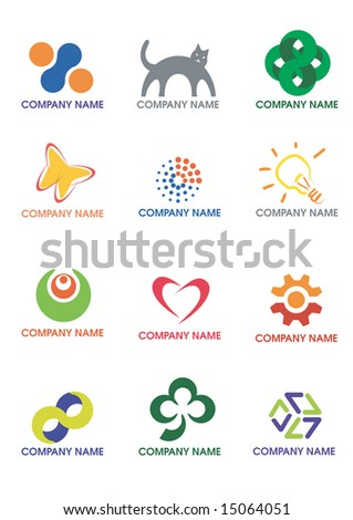 Several symbols, Vector illustration. - stock vector