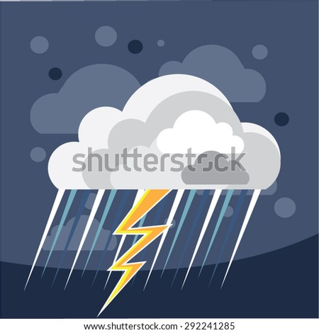 Severe Weather Storm Icon - stock vector