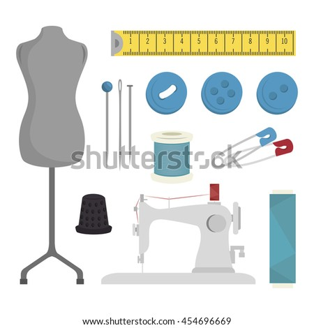 sewing kit isolated icon design, vector illustration  graphic