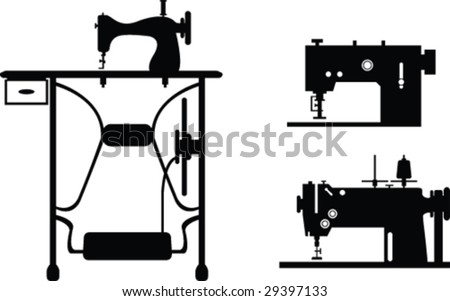 Sewing-machine - stock vector