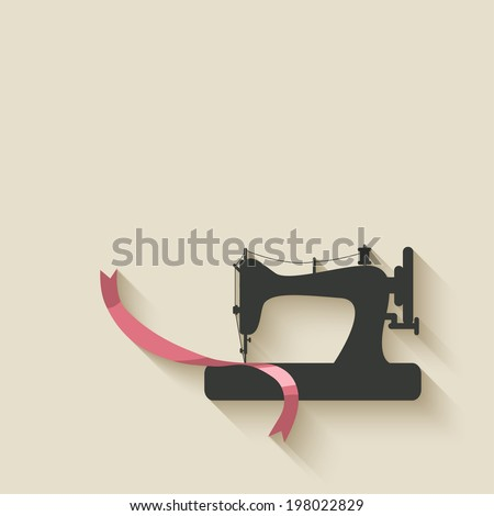 sewing machine background - stock vector